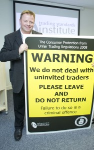 Steve Playle from Surrey County Council Trading Standards.