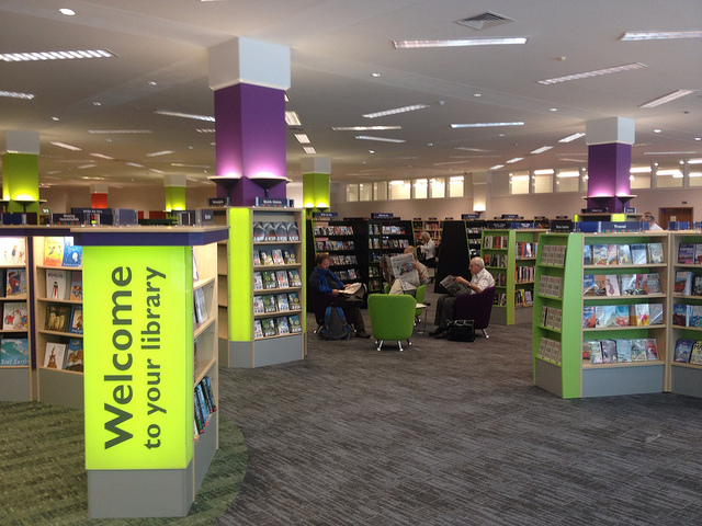Woking library inside