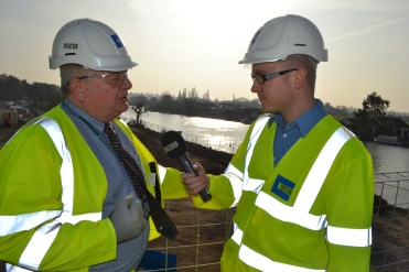 John Furey being interviewed by Matt Graveling from BBC Surrey.