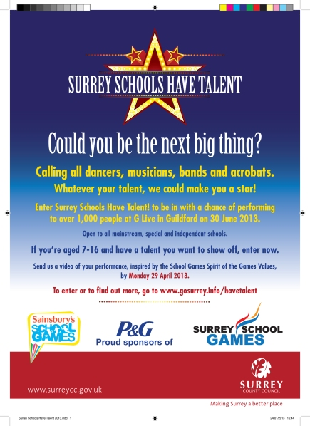 Surrey Schools Have Talent 2013.indd