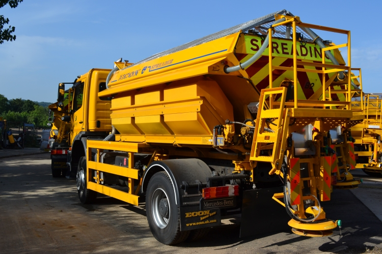 One of Surrey County Council's gritting vehicles fleet