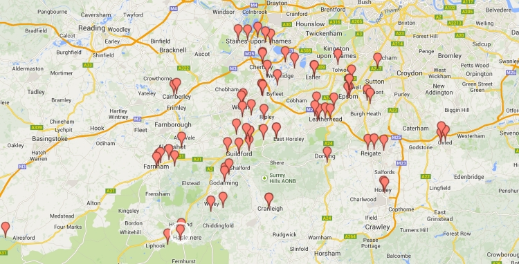 Dementia Champions: Click through to an interactive Google map.