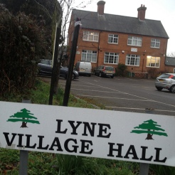 Lyne Village Hall won cash to improve facilities