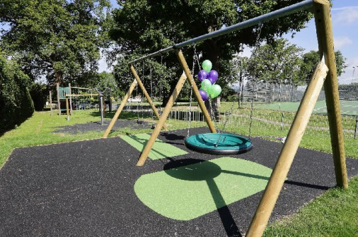 The new Dormansland playground opened in July 2014. Photo courtesy of Dormansland Parish Council.