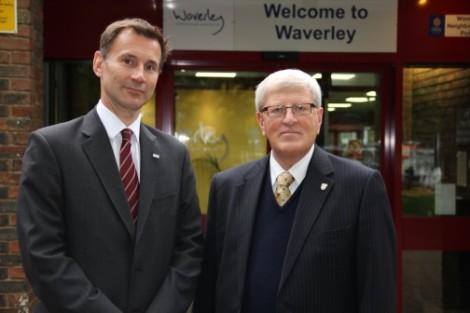 Jeremy Hunt and Surrey leader discuss improving flooddefences