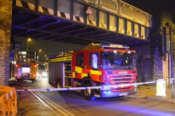 Surrey Fire and Rescue Service at the scene of a fire Staines Image courtesy of FireSnapper999