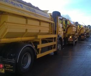 Gritters setting out to prepare the roads for snow