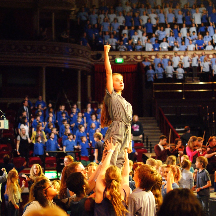 Performance of The Freedom Game at the Royal Albert Hall to mark the 800th anniversary of the Magna Carta's sealing