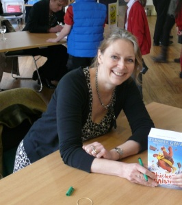 Author Jennifer Gray with her award-winning book. Click image to download
