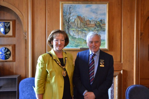 New council Chairman Sally Marks with new Vice Chairman Nick Skellett.