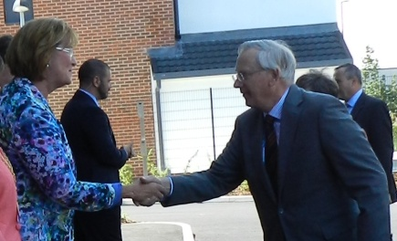 HRH with Chairman close up