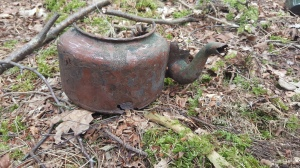 A kettle recovered from Witley Camp
