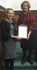 Maya award with Sally
