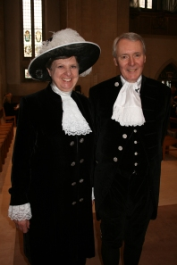 Former High Sheriff Elizabeth Kennedy hands over the role to Richard Whittington.