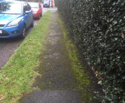 Ellesmere Road pavement before Pavement Horizon work