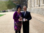 Surrey foster couple receive MBEs