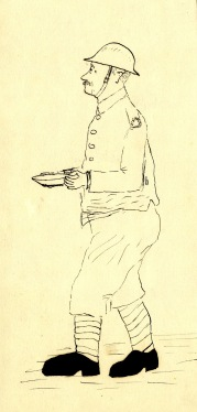 Sketch of Morris, thought to have inspired the character of Mason, from RC Sherriff's memoirs of active service Credit: Surrey History Centre/Kingston Grammar School