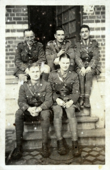 Lt Percy High (back row, first left) pictured with other officers in C Company, 9th Battalion, East Surrey Regiment, may have inspired the character of Lt Osborne Credit: Surrey History Centre/Kingston Grammar School