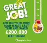 VIDEO: Rise in food waste recycling saves £200,000 in a year