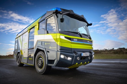 Concept Fire Truck Rosenbauer's electric fire engine