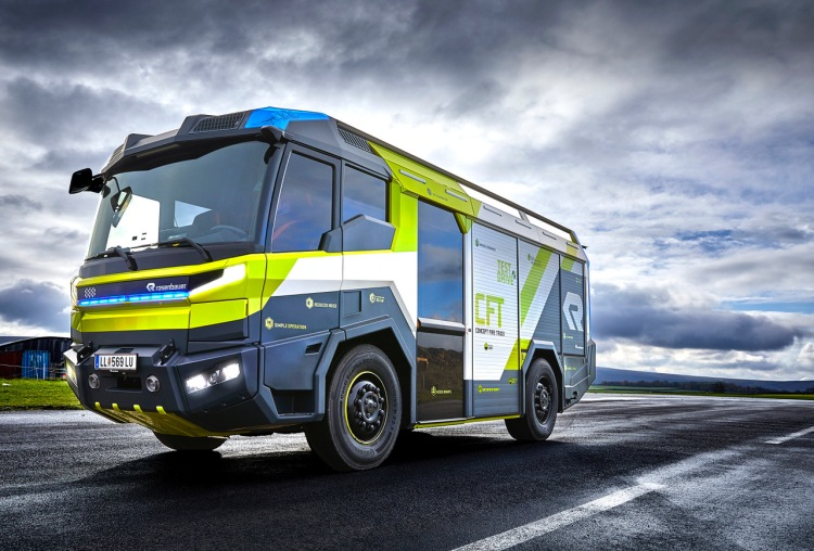 Rosenbauer Concept Fire Truck electric fire engine
