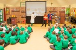 Environment Cabinet Member visits pupils learning about air pollution