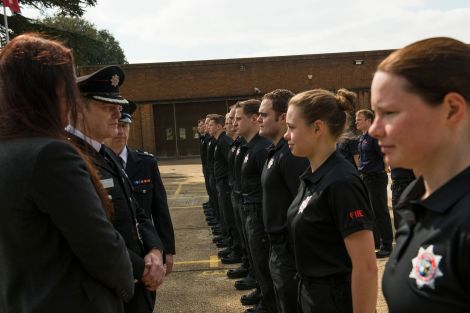 First graduates from joint Surrey and Sussex firefighter training course showcase skills at passing outparade