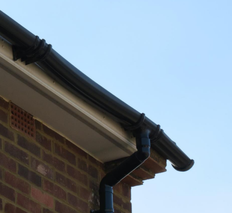 Distorted guttering at the house - which remained unrepaired