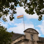 Raising the rainbow flag in Surrey