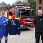 Firefighters swap their fire kit for footballboots